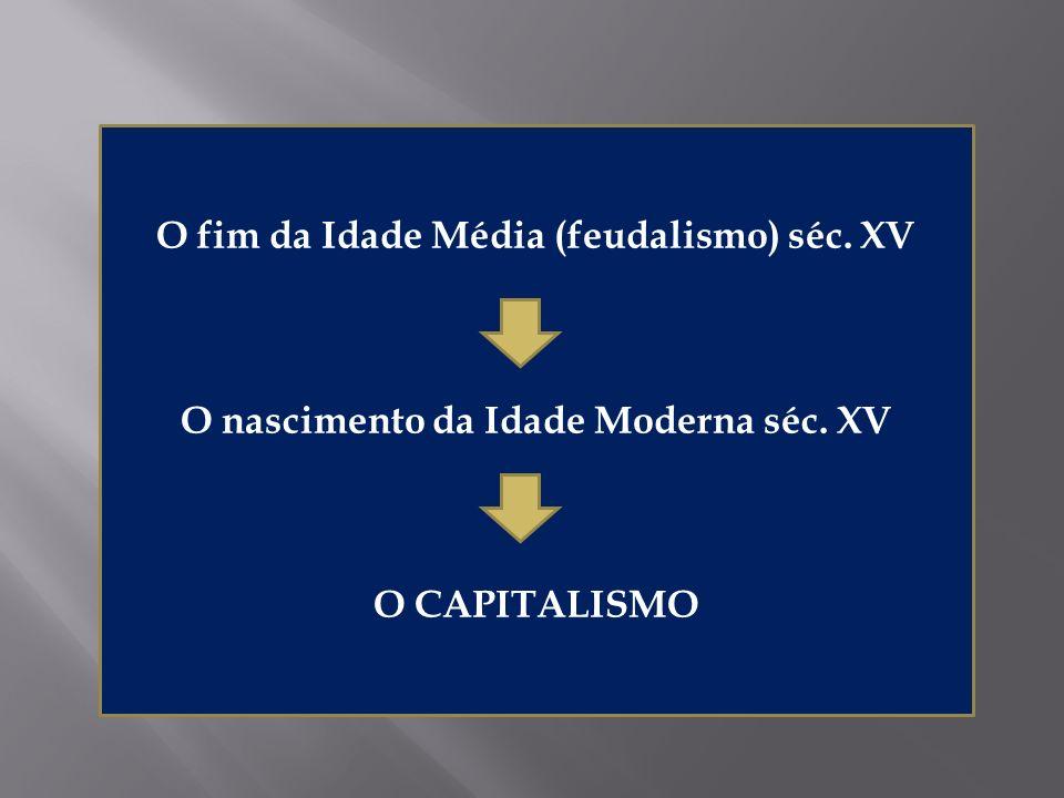 O fim da Idade Média (feudalismo) séc. XV O nascimento da Idade Moderna séc. XV O CAPITALISMO
