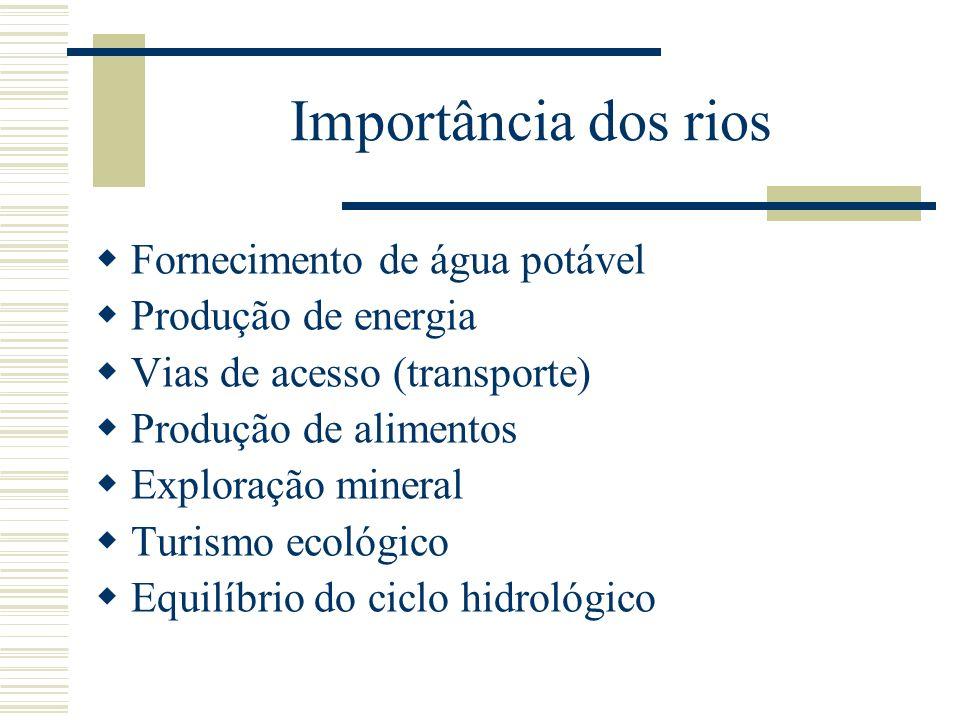 Características das principais bacias hidrográficas do Brasil Bacia do Paraguai (MT e MS) 1.Rio tipicamente de planície 2.Afluentes: São Lourenço, Miranda e Apa.