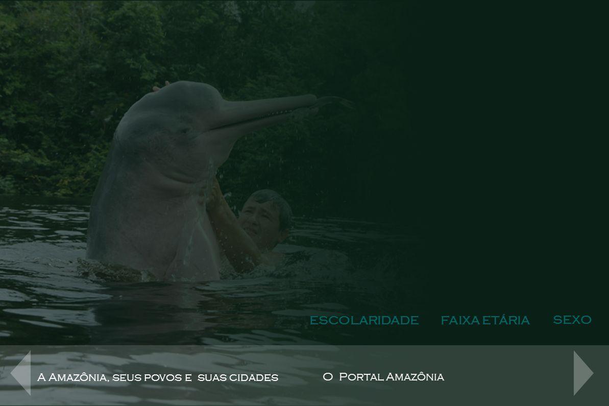 O Público do Portal ESCOLARIDADEFAIXA ETÁRIA SEXO Escolaridade A Amazônia, seus povos e suas cidades O Portal Amazônia