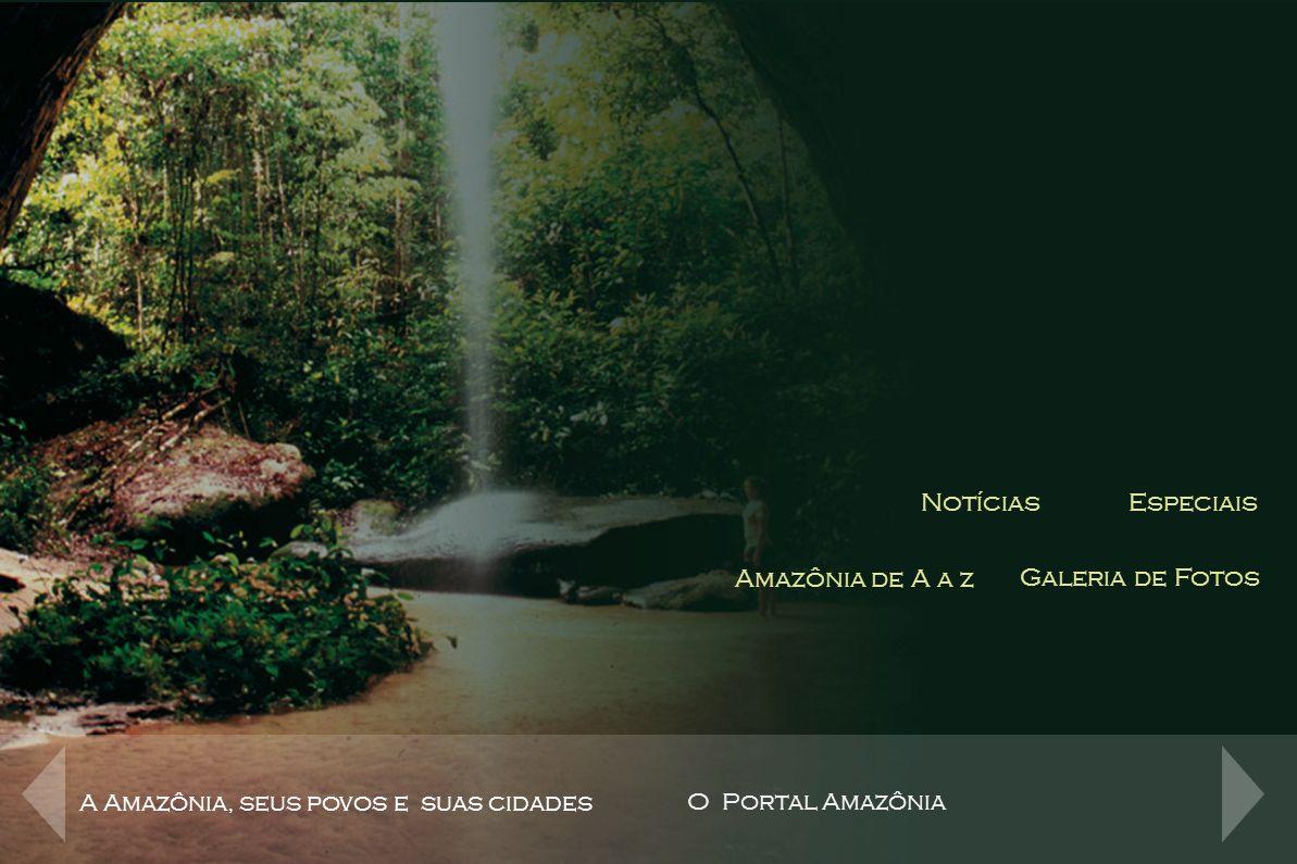 Canais de Conteúdo NotíciasEspeciais Amazônia de A a z Galeria de Fotos Notícias Conteúdo Jornalístico de toda região Norte com acompanhamento dos fatos e notícias que influenciam o dia a dia da região A Amazônia, seus povos e suas cidades O Portal Amazônia