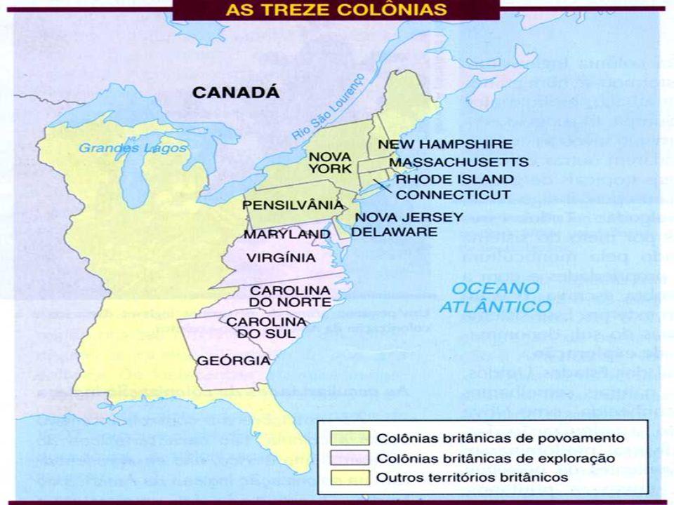 O Processo de Colonização n áreas do centro-norte: indústrias extrativas (peles, madeiras pesca, ferro) manufaturas e construção naval n áreas do sul: