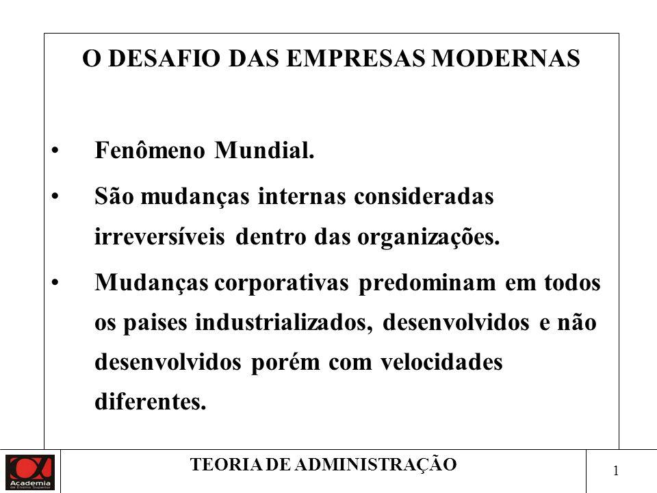 2 TEORIA DE ADMINISTRAÇÃO O DESAFIO DE IMPULSIONAR AS PESSOAS E RENOVAR CONTINUAMENTE AS EMPRESAS.