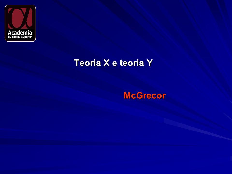 Teoria X e teoria Y McGrecor
