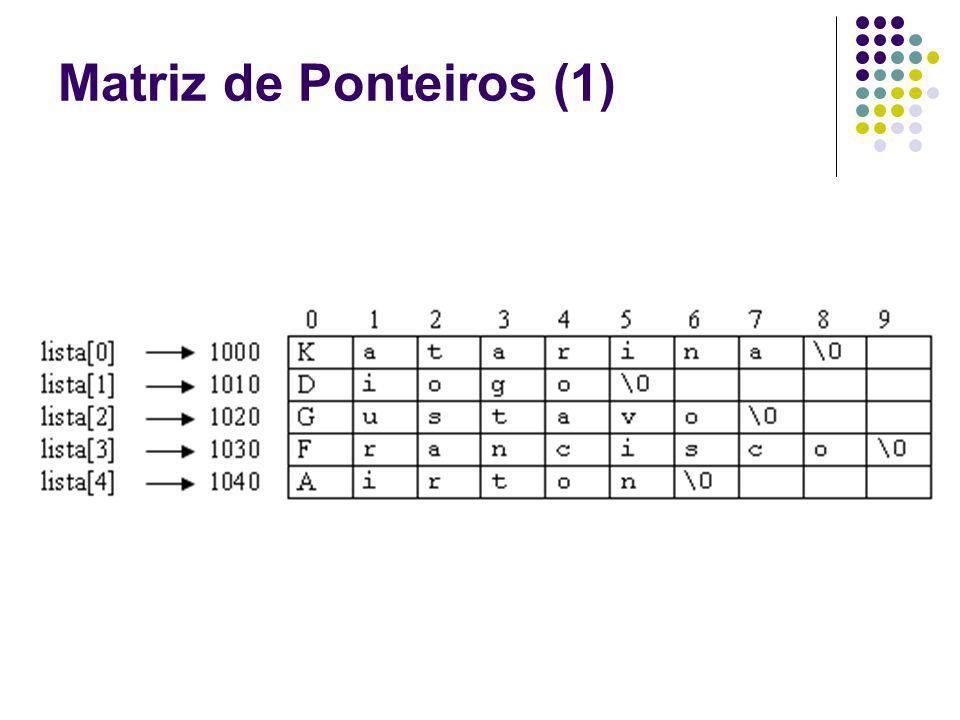 Matriz de Ponteiros (1)