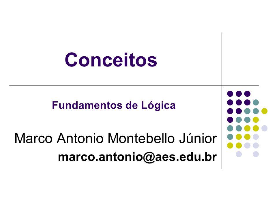 Conceitos Marco Antonio Montebello Júnior marco.antonio@aes.edu.br Fundamentos de Lógica