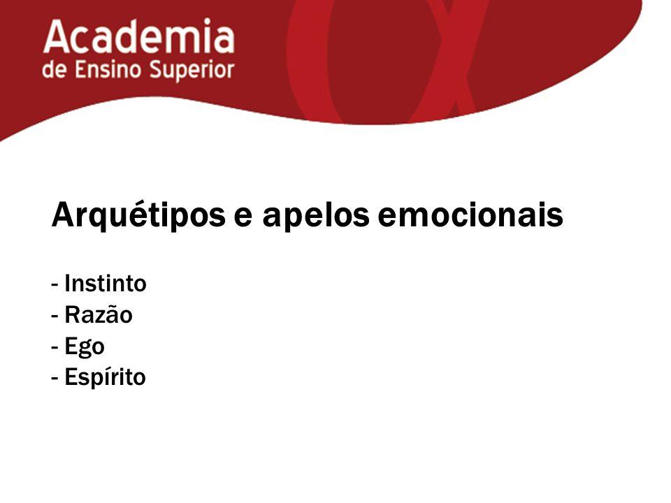 Arquétipos e apelos emocionais - Instinto - Razão - Ego - Espírito
