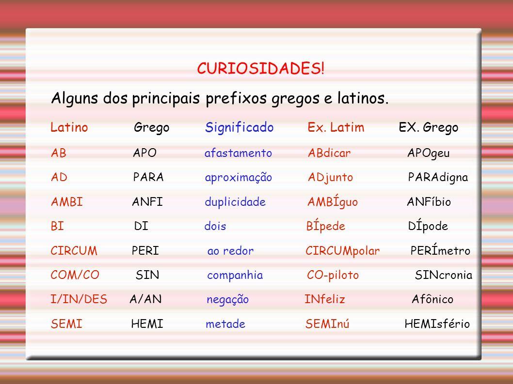 Desinência nominal » indica o gênero (feminino/masculino) e o número( singular/plural) dos nomes. Desinência verbal » são usadas nas formas verbais pa