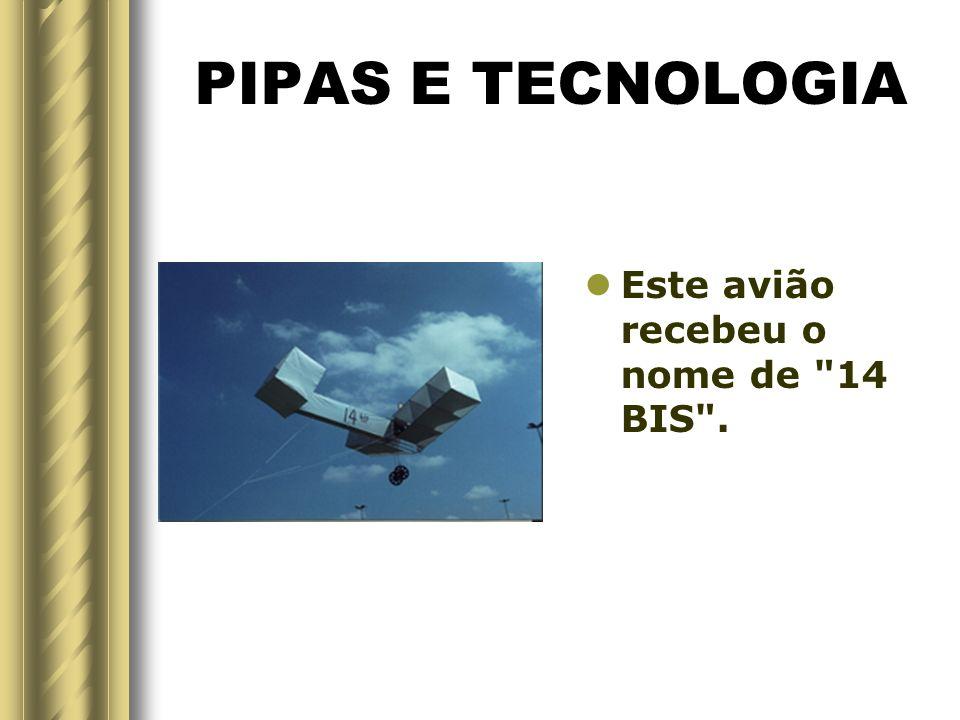 PIPAS E TECNOLOGIA Em 1906, depois de vários testes o Brasileiro Alberto Santos Dumont, fez o primeiro vôo, usando um conjunto de pipas-caixas, aciona