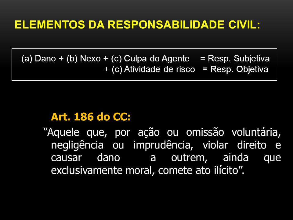 Responsabilidade civil e penal: -RC = visa indenizar a vítima do dano, responsabilizando o agente direto ou por fato de outrem (culpa in eligendo e in vigilando – art.