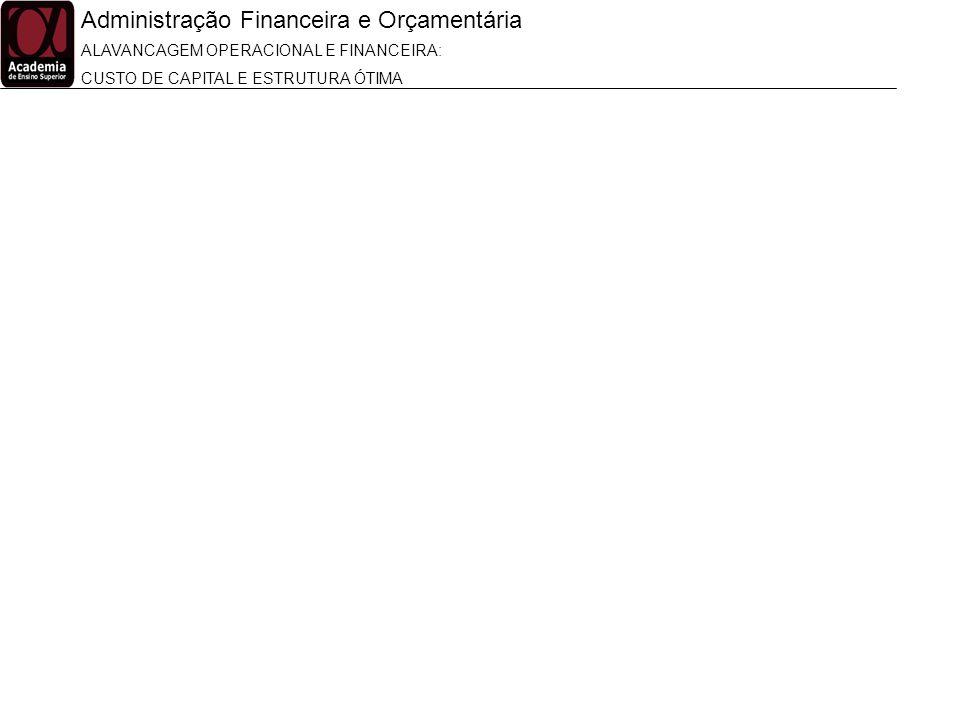 Administração Financeira e Orçamentária ALAVANCAGEM OPERACIONAL E FINANCEIRA: CUSTO DE CAPITAL E ESTRUTURA ÓTIMA