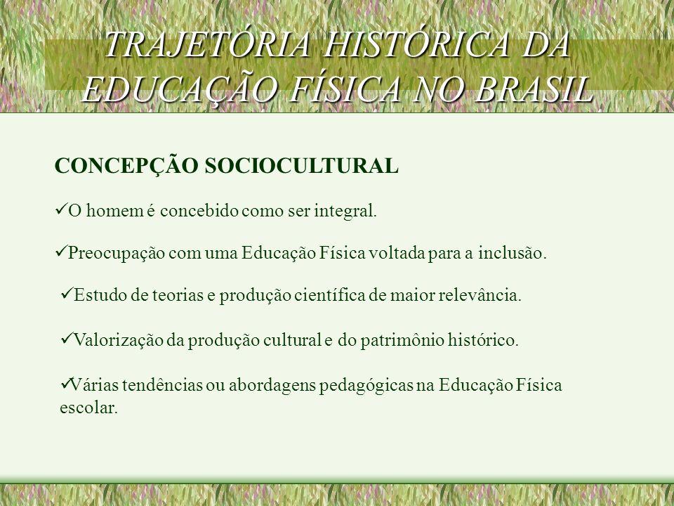 TRAJETÓRIA HISTÓRICA DA EDUCAÇÃO FÍSICA NO BRASIL FASE POPULAR (APÓS A ABERTURA DEMOCRÁTICA) Sem linha teórica definida. Ligada a modismos (academia,