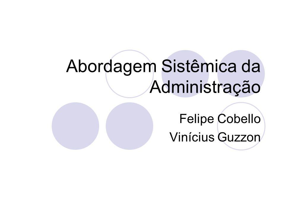 Abordagem Sistêmica da Administração Felipe Cobello Vinícius Guzzon