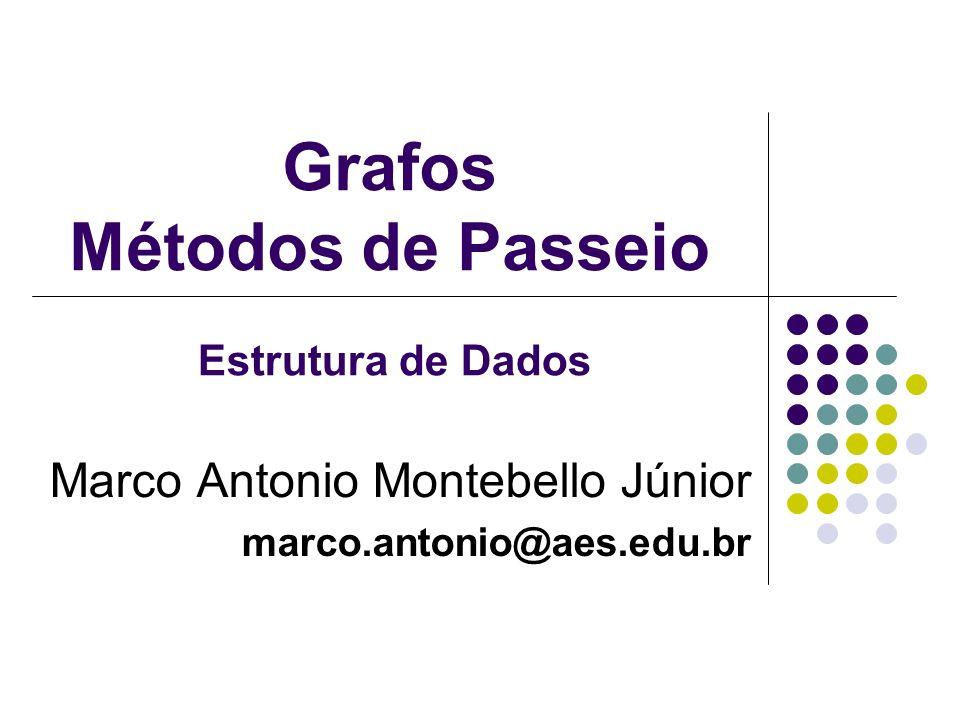 Grafos Métodos de Passeio Marco Antonio Montebello Júnior marco.antonio@aes.edu.br Estrutura de Dados