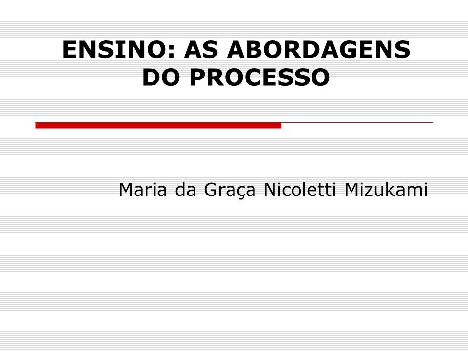 ENSINO: AS ABORDAGENS DO PROCESSO Maria da Graça Nicoletti Mizukami