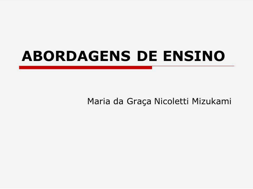 ABORDAGENS DE ENSINO Maria da Graça Nicoletti Mizukami