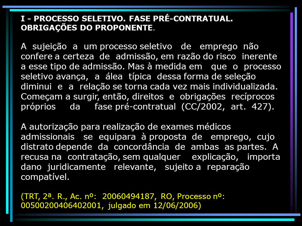 Dano pré e pós: Responsabilidade Contratual ou Aquiliana.