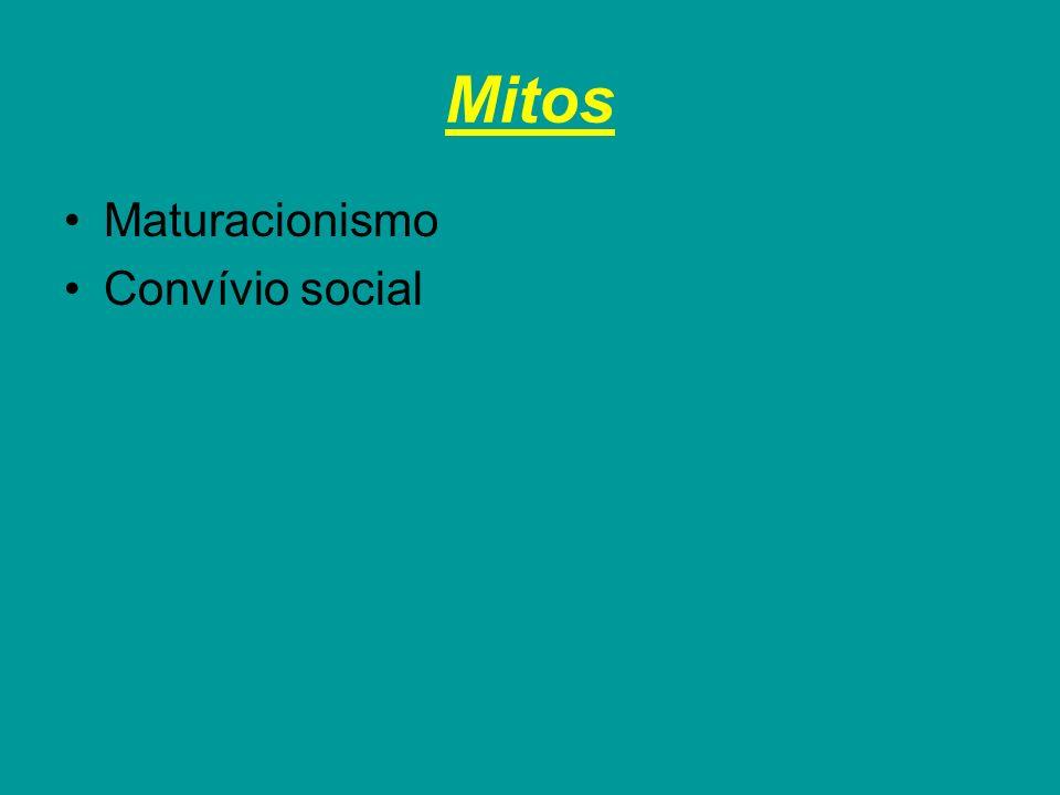 Mitos Maturacionismo Convívio social