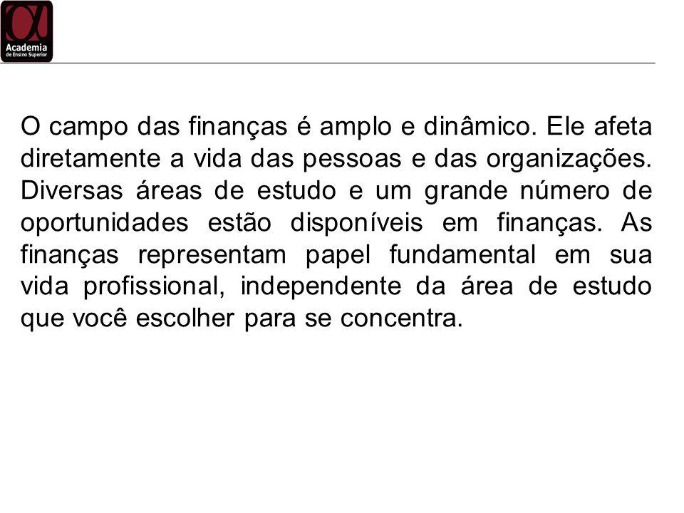 Finanças Gerente de Caixa Responsável por manter e controlar os saldos diários de caixa da empresa.