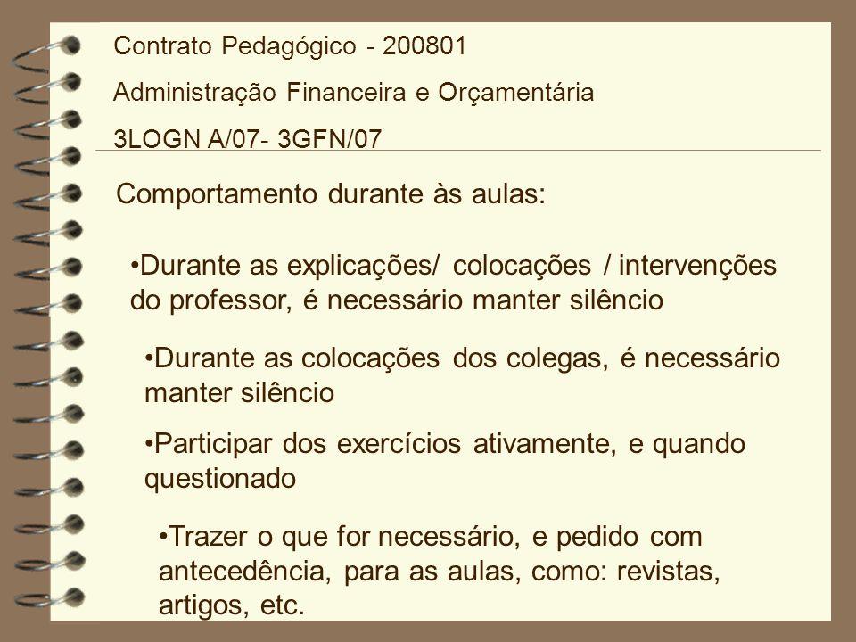 Avaliação Complementar Se por qualquer motivo o aluno, perder duas das três avaliações, poderá solicitar junto a secretaria da AES, uma prova de 2a.