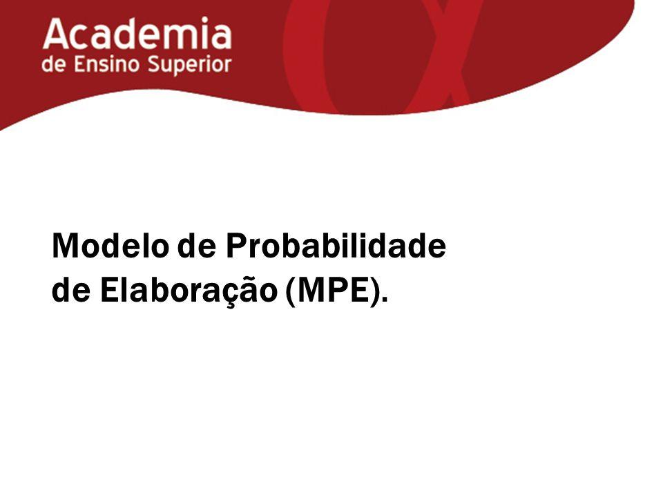 Modelo de Probabilidade de Elaboração (MPE).