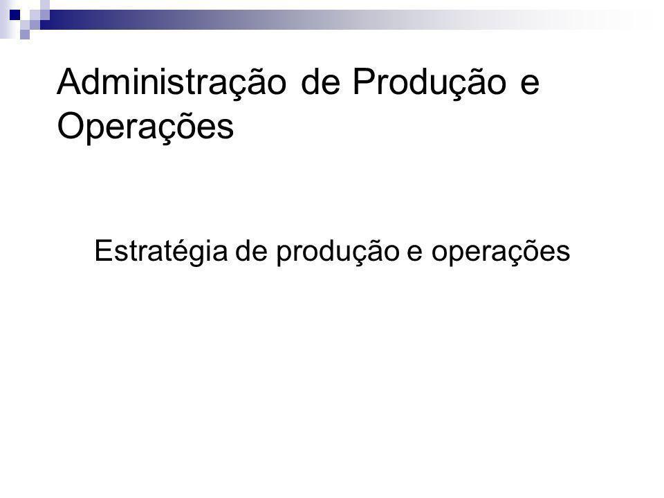 Por que gestão estratégica de produção e operações.