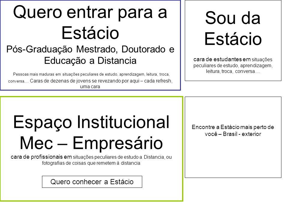 Encontre a Estácio mais perto de você – Brasil - exterior Quero entrar para a Estácio Pós-Graduação Mestrado, Doutorado e Educação a Distancia Pessoas