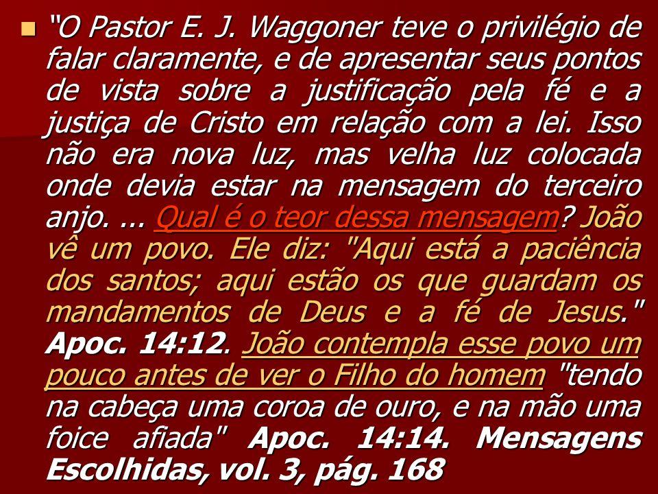 O Pastor E.J.