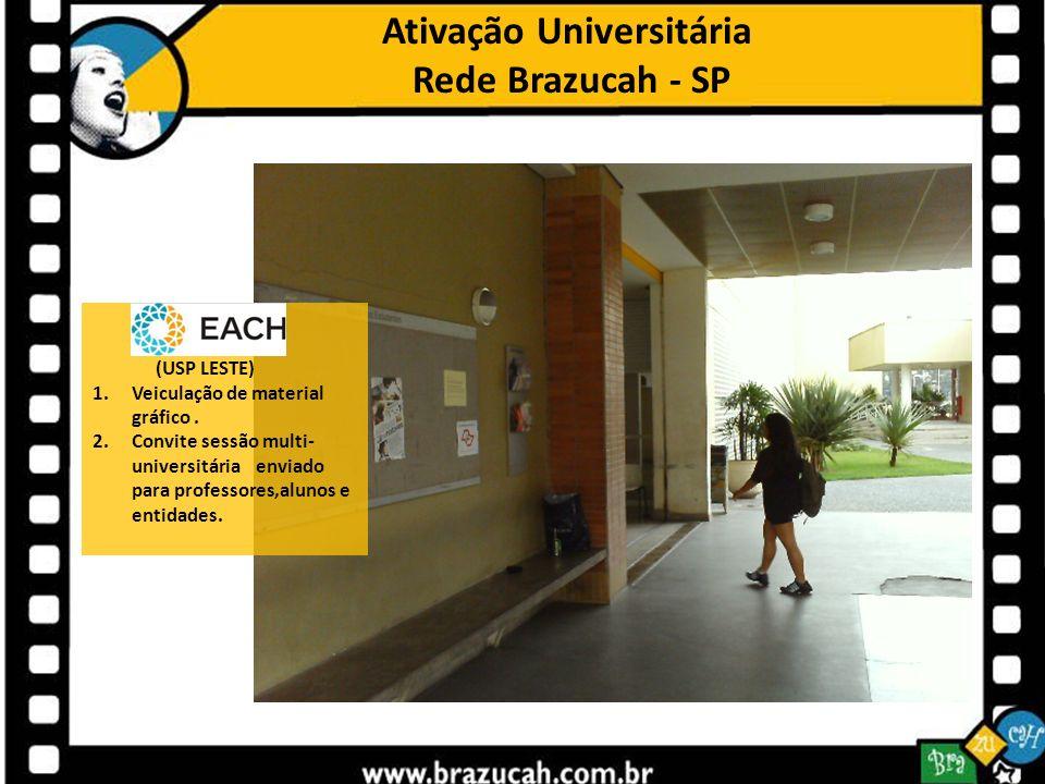 Ativação Universitária Rede Brazucah - SP (USP LESTE) 1.Veiculação de material gráfico. 2.Convite sessão multi- universitária enviado para professores