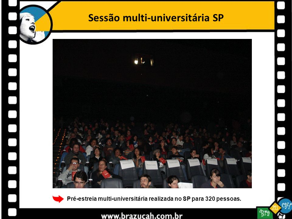 Sessão multi-universitária SP Pré-estreia multi-universitária realizada no SP para 320 pessoas.