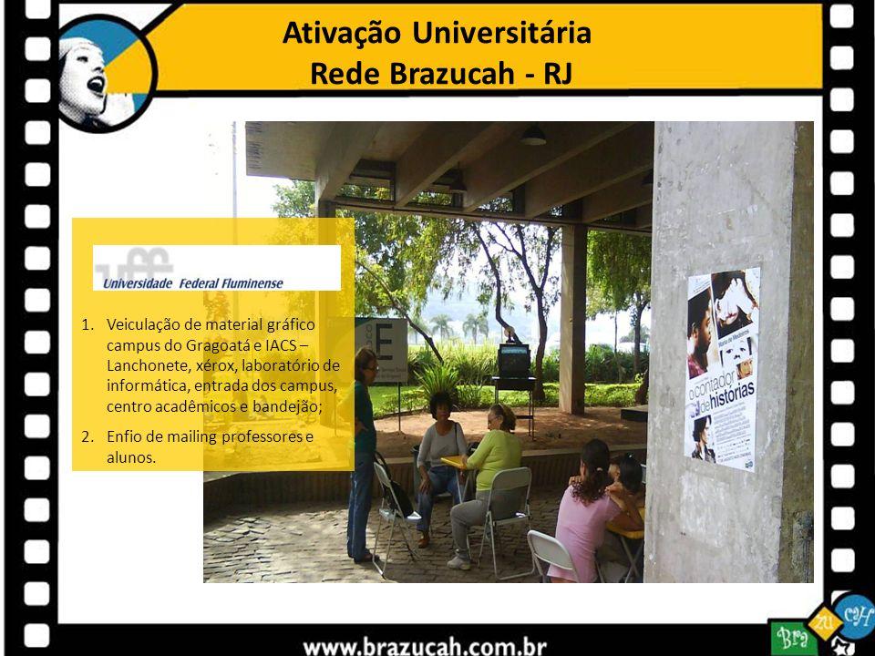 Ativação Universitária Rede Brazucah - RJ 1.Veiculação de material gráfico campus do Gragoatá e IACS – Lanchonete, xérox, laboratório de informática,