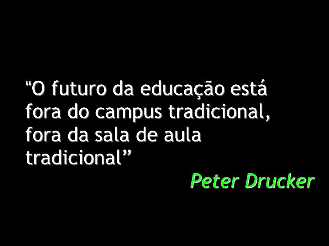 O futuro da educação está O futuro da educação está fora do campus tradicional, fora da sala de aula tradicional Peter Drucker