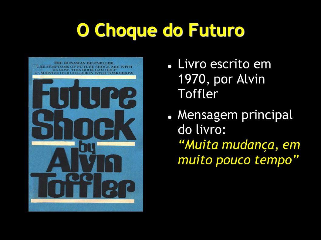 O Choque do Futuro Livro escrito em 1970, por Alvin Toffler Mensagem principal do livro: Muita mudança, em muito pouco tempo
