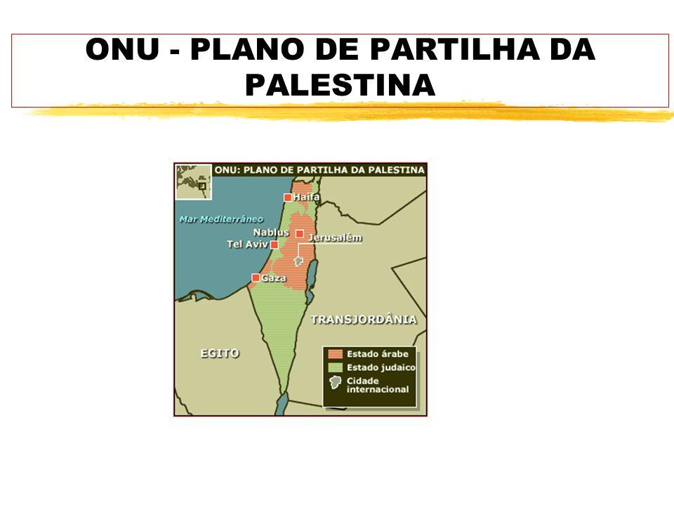 ONU - PLANO DE PARTILHA DA PALESTINA