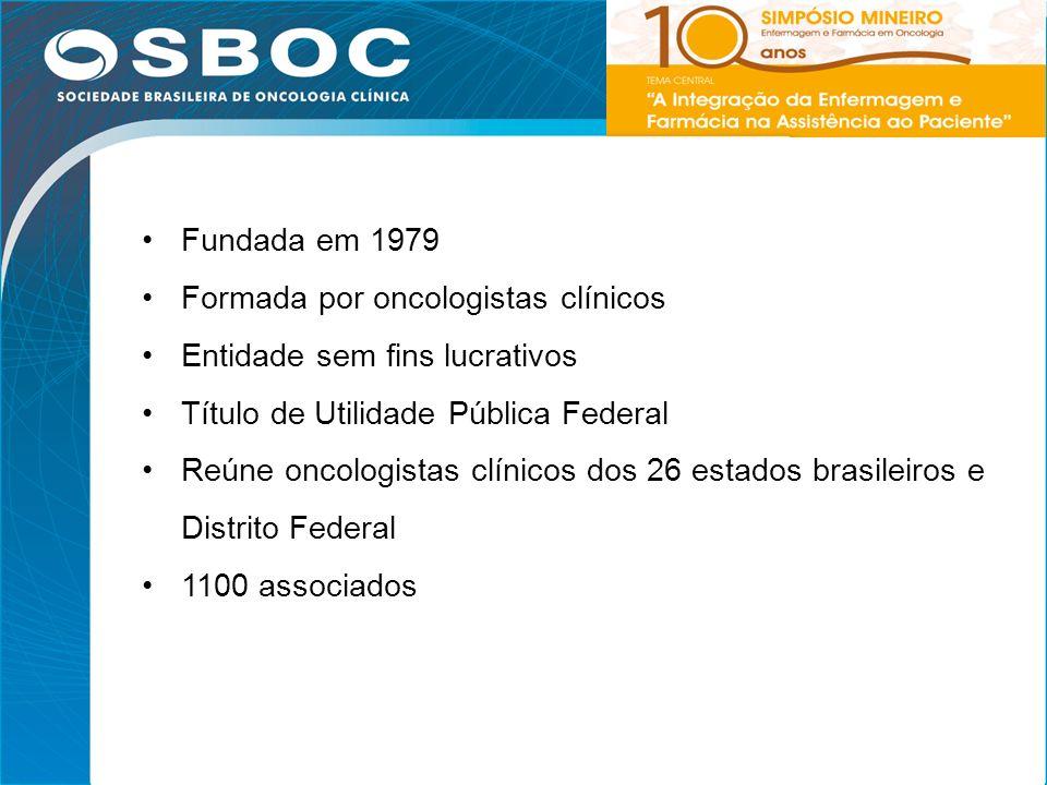 3 Fundada em 1979 Formada por oncologistas clínicos Entidade sem fins lucrativos Título de Utilidade Pública Federal Reúne oncologistas clínicos dos 2