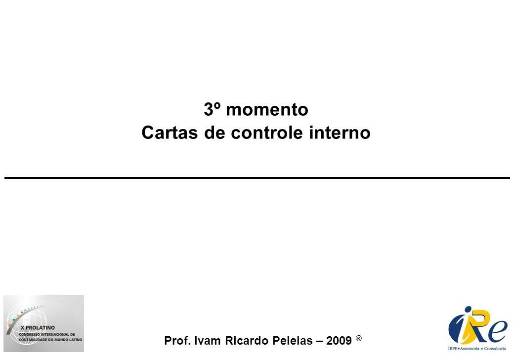 Prof. Ivam Ricardo Peleias – 2009 ® 3º momento Cartas de controle interno
