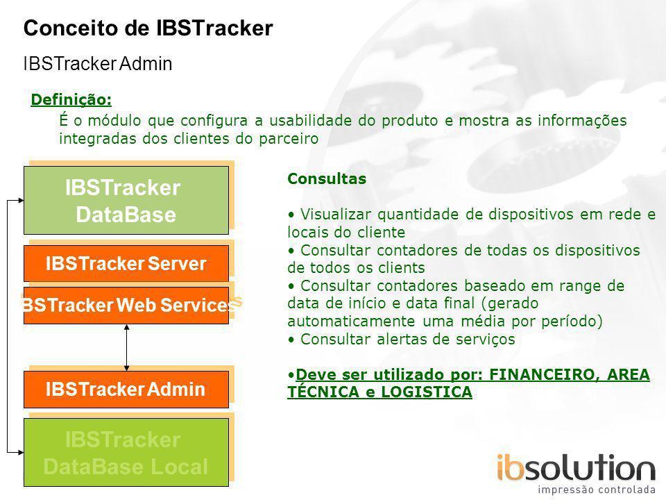 YOUR LOGO Page 12 Conceito de IBSTracker IBSTracker Admin IBSTracker DataBase IBSTracker Server IBSTracker Admin Definição: É o módulo que configura a