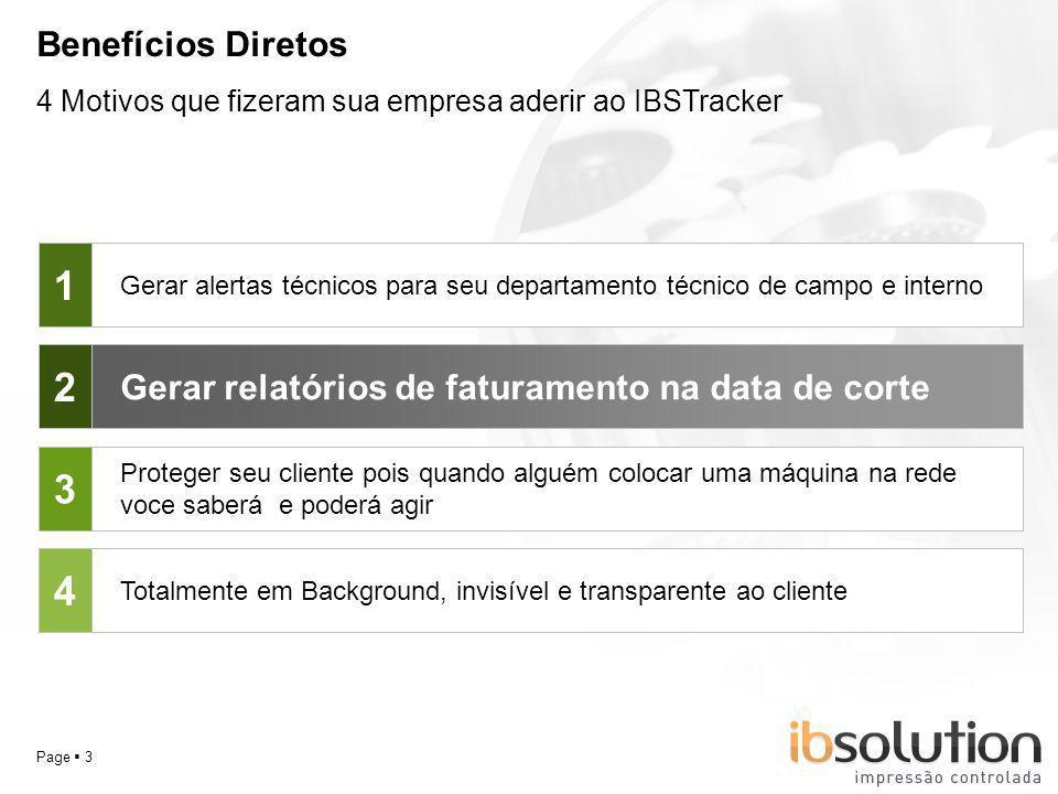 YOUR LOGO Page 14 Perguntas sobre o IBSTracker O IBSTracker pode coletar contadores de impressoras locais ( USB e paralela ) ?.