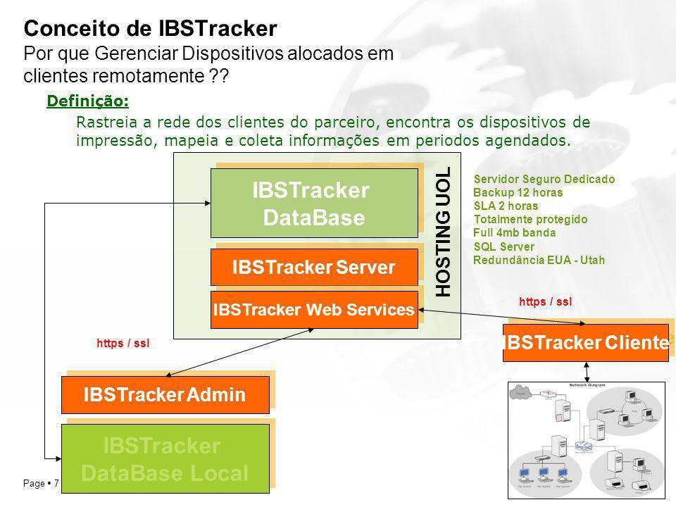 YOUR LOGO Page 8 Conceito de IBSTracker Por que Gerenciar Dispositivos alocados em clientes remotamente ?.