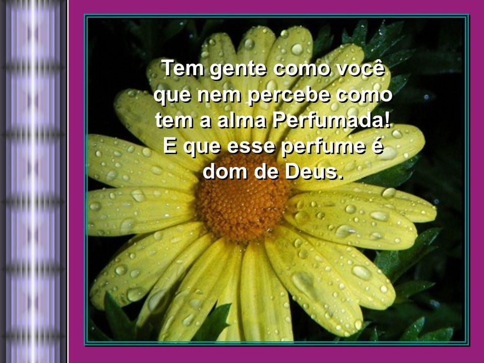 Tem gente como você que nem percebe como tem a alma Perfumada! E que esse perfume é dom de Deus.