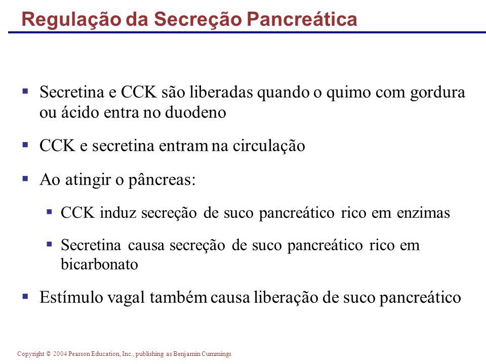 Copyright © 2004 Pearson Education, Inc., publishing as Benjamin Cummings Regulação da Secreção Pancreática Figure 23.28