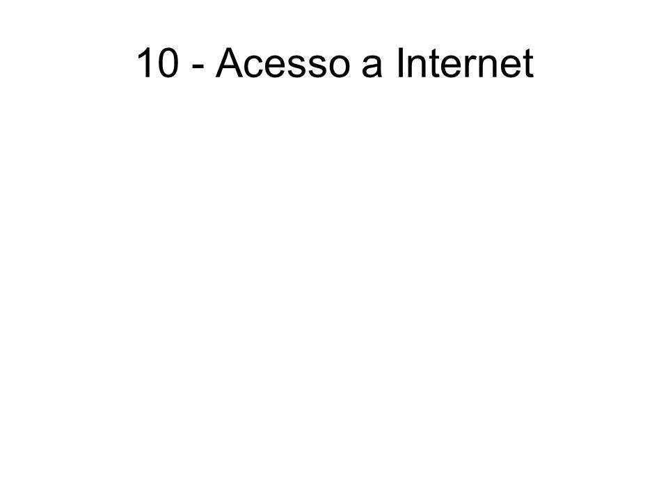10 - Acesso a Internet