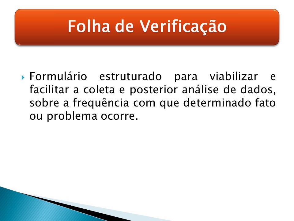 Formulário estruturado para viabilizar e facilitar a coleta e posterior análise de dados, sobre a frequência com que determinado fato ou problema ocor