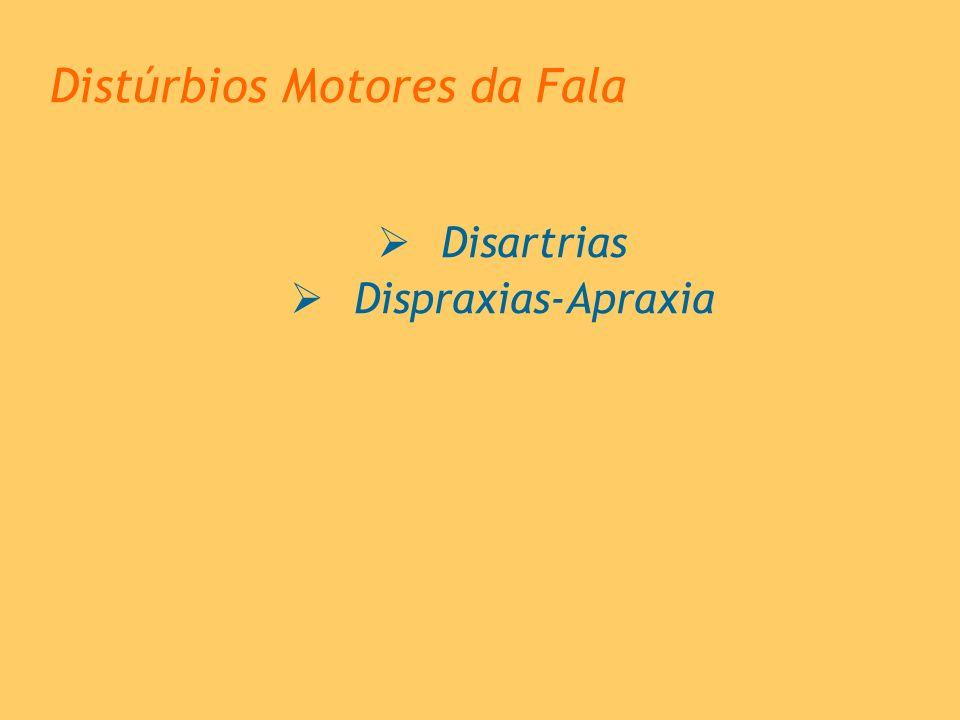 Distúrbios Motores da Fala Disartrias Dispraxias-Apraxia