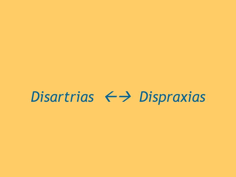 Disartrias Dispraxias