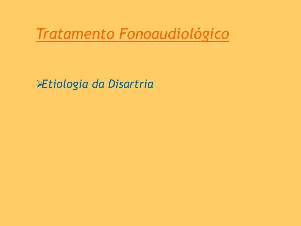 Tratamento Fonoaudiológico Etiologia da Disartria