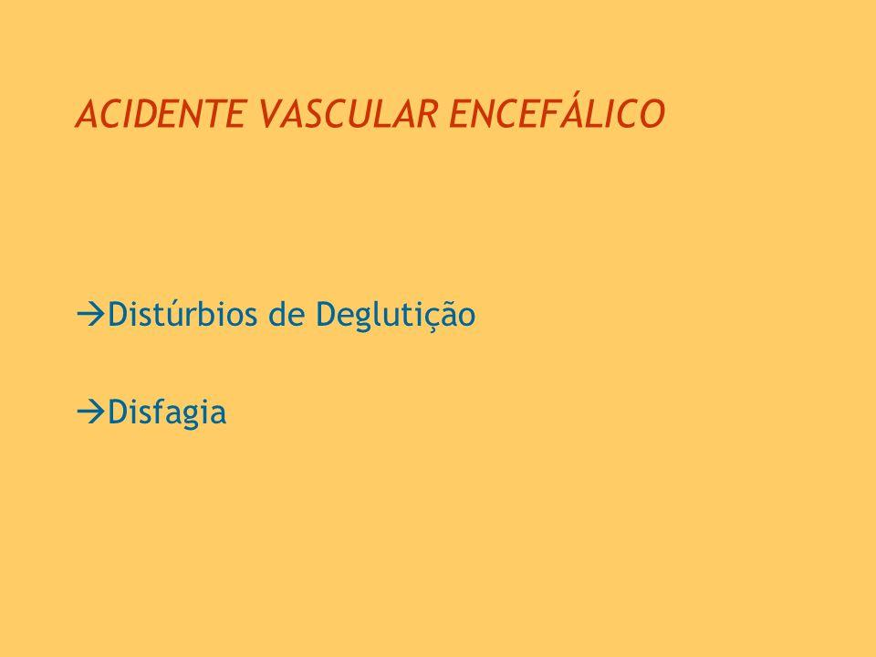 ACIDENTE VASCULAR ENCEFÁLICO Distúrbios de Deglutição Disfagia