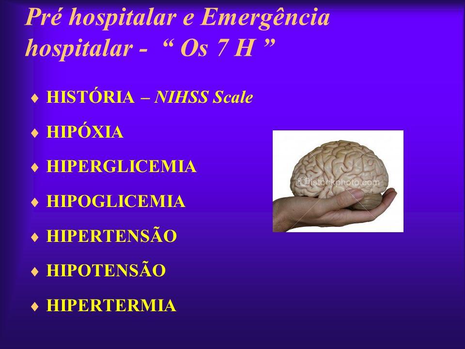 PRESSÃO ARTERIAL & AVC AGUDO CONSIDERAR TRATAMENTO QUANDO: –PA SISTÓLICA > 220 mm Hg –PA DIASTÓLICA > 120 mm Hg –PAS >180mmHg –PAD >110mmHg O u em: - Isquemia Miocárdica Aguda - Edema Agudo de Pulmão - Dissecção Aórtica - Insuficiência Renal com piora rápida - Encefalopatia hipertensiva TROMBÓLISE