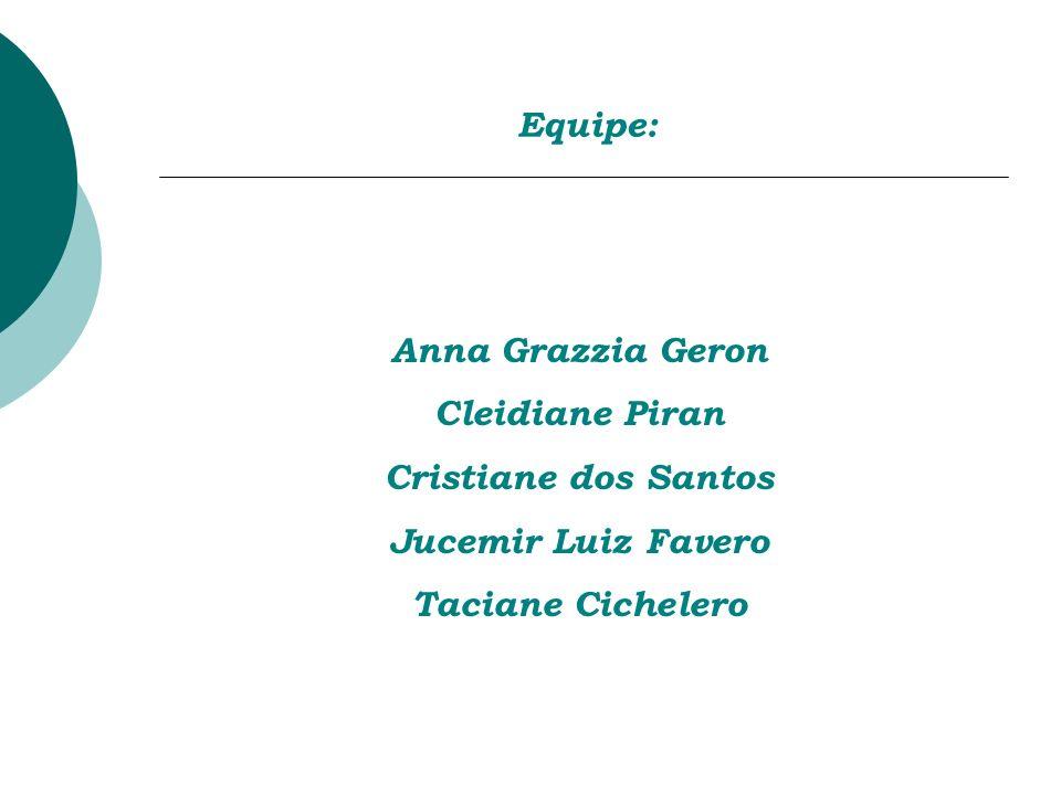 Equipe: Anna Grazzia Geron Cleidiane Piran Cristiane dos Santos Jucemir Luiz Favero Taciane Cichelero
