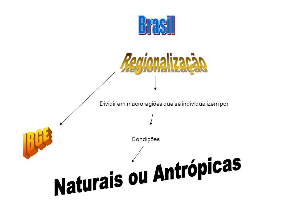 Em 1941 foi feita a primeira divisão regional do Brasil sob a tutela do IBGE, o país foi dividido em 5 grandes regiões; Norte, Nordeste, Leste, Centro- oeste e Sul.