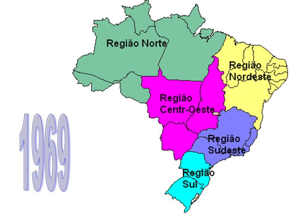 As 5 regiões que conhecemos hoje, são as praticamente as mesmas de 1969 com a exceção de Tocantins presente na região Norte e a supressão da sua área da região Centro Oeste.